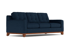 Brentwood Queen Size Sleeper Sofa :: Leg Finish: Pecan / Sleeper Option: Memory Foam Mattress