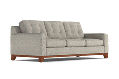 Brentwood Queen Size Sleeper Sofa :: Leg Finish: Pecan / Sleeper Option: Deluxe Innerspring Mattress