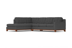 Brentwood 2pc Sectional Sofa :: Leg Finish: Pecan / Configuration: LAF - Chaise on the Left