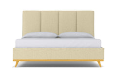 Carter Upholstered Bed :: Leg Finish: Natural / Size: California King