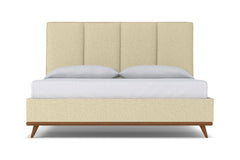 Carter Upholstered Bed :: Leg Finish: Pecan / Size: Queen Size