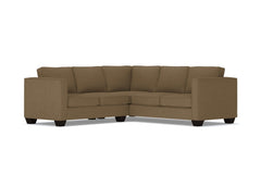 Catalina 2pc Sleeper L-Sectional :: Leg Finish: Espresso / Sleeper Option: Memory Foam Mattress