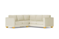 Catalina 2pc Sleeper L-Sectional :: Leg Finish: Natural / Sleeper Option: Deluxe Innerspring Mattress