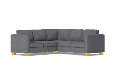 Catalina 2pc Sleeper L-Sectional :: Leg Finish: Natural / Sleeper Option: Memory Foam Mattress