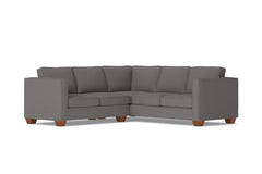 Catalina 2pc Sleeper L-Sectional :: Leg Finish: Pecan / Sleeper Option: Deluxe Innerspring Mattress
