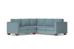 Catalina 2pc L-Sectional Sofa :: Leg Finish: Pecan