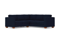 Catalina 2pc Sleeper L-Sectional :: Leg Finish: Pecan / Sleeper Option: Memory Foam Mattress