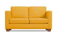 Catalina Apartment Size Sleeper Sofa :: Leg Finish: Pecan / Sleeper Option: Memory Foam Mattress
