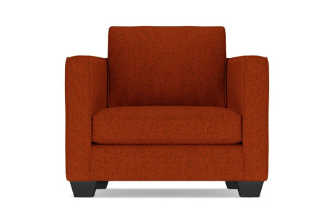 Catalina Chair  -  Leg Finish: Espresso  -  Orange Poly Blend  - Accent Chair - Furniture Sold By Apt2B