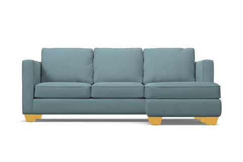 Catalina Reversible Chaise Sleeper Sofa :: Leg Finish: Natural / Sleeper Option: Memory Foam Mattress