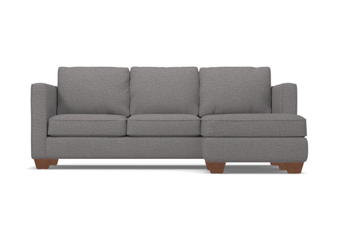 Catalina Reversible Chaise Sleeper Sofa :: Leg Finish: Pecan / Sleeper Option: Deluxe Innerspring Mattress