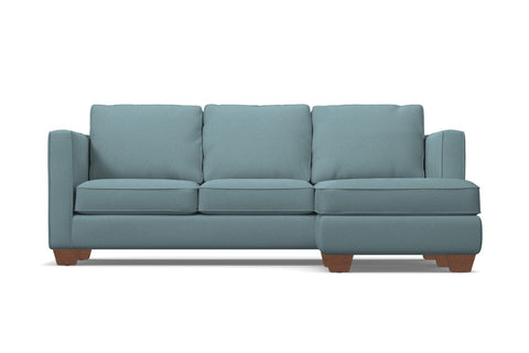 Catalina Reversible Chaise Sleeper Sofa :: Leg Finish: Pecan / Sleeper Option: Memory Foam Mattress
