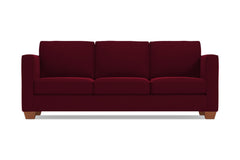Catalina Queen Size Sleeper Sofa :: Leg Finish: Pecan / Sleeper Option: Memory Foam Mattress
