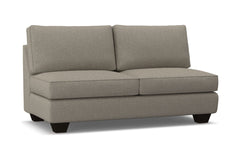 Catalina Armless Apartment Size Sofa :: Leg Finish: Espresso