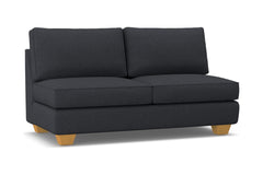Catalina Armless Apartment Size Sofa :: Leg Finish: Natural