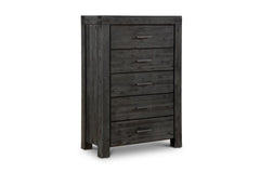 Clifton 5 Drawer Chest GRAPHITE