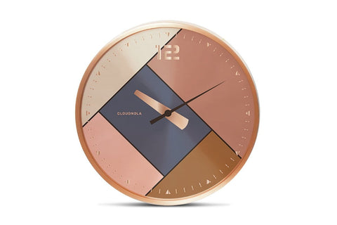 Rubik Wall Clock by Cloudnola ROSE GOLD/BRUSHED COPPER