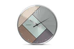 Rubik Wall Clock by Cloudnola SILVER/BRUSHED SILVER