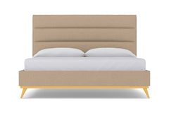 Cooper Upholstered Bed :: Leg Finish: Natural / Size: Eastern King