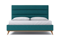 Cooper Upholstered Bed :: Leg Finish: Pecan / Size: California King