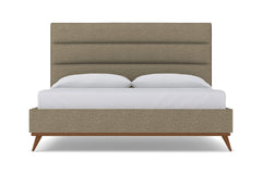 Cooper Upholstered Bed :: Leg Finish: Pecan / Size: Eastern King