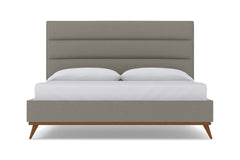 Cooper Upholstered Bed :: Leg Finish: Pecan / Size: Queen Size
