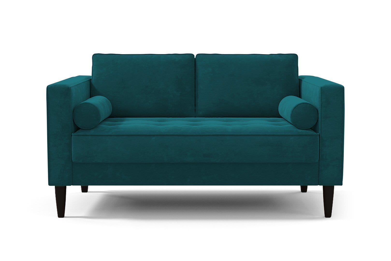 Delilah Loveseat - Green Velvet - Small Space Modern Couch Made in the USA - Sold by Apt2B
