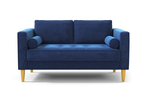 Delilah Apartment Size Sofa :: Leg Finish: Natural / Size: Apartment Size - 74