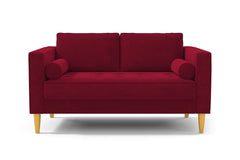 "Delilah Apartment Size Sofa :: Leg Finish: Natural / Size: Apartment Size - 74""w"