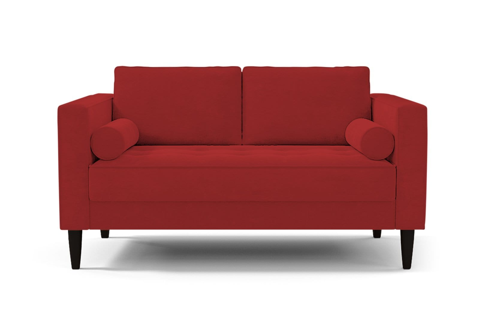 Delilah Loveseat - Red - Small Space Modern Couch Made in the USA - Sold by Apt2B