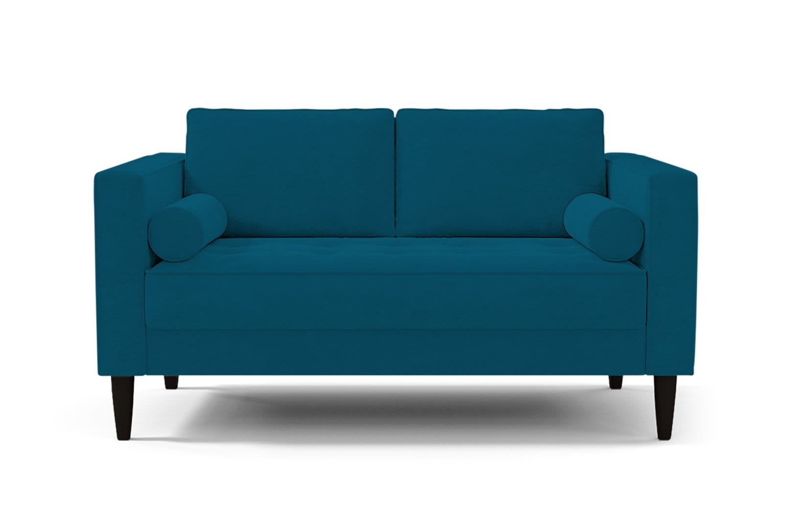 Delilah Loveseat - Blue - Small Space Modern Couch Made in the USA - Sold by Apt2B