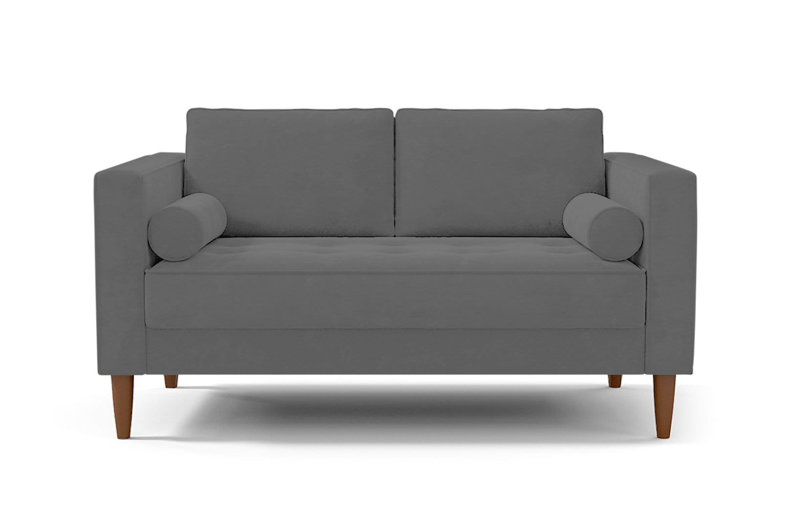 Delilah Loveseat - Grey - Small Space Modern Couch Made in the USA - Sold by Apt2B