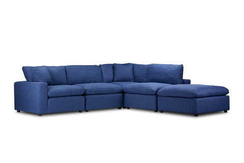 Ashton 5pc Modular Sectional with Ottoman