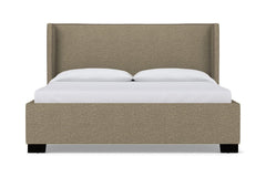 Everett Upholstered Bed :: Leg Finish: Espresso / Size: Queen Size
