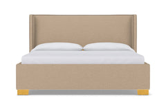 Everett Upholstered Bed :: Leg Finish: Natural / Size: California King
