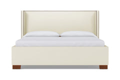 Everett Upholstered Bed :: Leg Finish: Pecan / Size: King