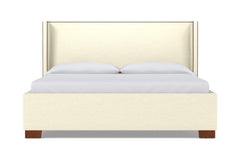Everett Upholstered Bed :: Leg Finish: Pecan / Size: Queen Size