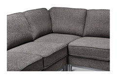 Westley 4pc Sectional Sofa :: Configuration: RAF - Chaise on the Right