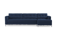 Fillmore 2pc Sleeper Sectional :: Configuration: RAF - Chaise on the Right / Sleeper Option: Memory Foam Mattress