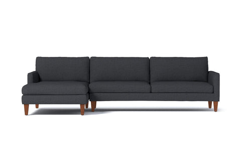 Formosa 2pc Sectional Sofa :: Leg Finish: Pecan / Configuration: LAF - Chaise on the Left