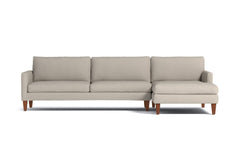 Formosa 2pc Sectional Sofa :: Leg Finish: Pecan / Configuration: RAF - Chaise on the Right