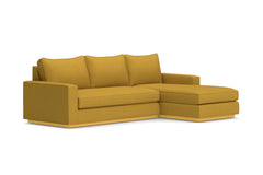 Harper 2pc Sleeper Sectional :: Leg Finish: Natural / Sleeper Option: Memory Foam Mattress / Configuration: RAF - Chaise on the Right