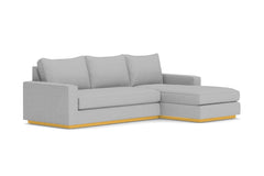 Harper 2pc Sleeper Sectional :: Leg Finish: Natural / Sleeper Option: Deluxe Innerspring Mattress / Configuration: RAF - Chaise on the Right
