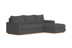 Harper 2pc Sleeper Sectional :: Leg Finish: Pecan / Sleeper Option: Memory Foam Mattress / Configuration: RAF - Chaise on the Right