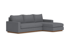 Harper 2pc Sectional Sofa :: Leg Finish: Pecan / Configuration: RAF - Chaise on the Right
