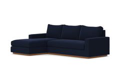 Harper 2pc Sectional Sofa :: Leg Finish: Pecan / Configuration: LAF - Chaise on the Left