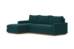 Harper 2pc Sleeper Sectional :: Leg Finish: Pecan / Sleeper Option: Memory Foam Mattress / Configuration: LAF - Chaise on the Left