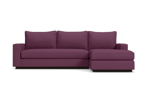 Harper 2pc Sectional Sofa :: Leg Finish: Espresso / Configuration: RAF - Chaise on the Right