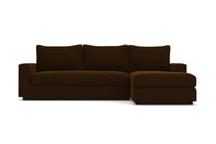 Harper 2pc Sleeper Sectional :: Leg Finish: Espresso / Sleeper Option: Deluxe Innerspring Mattress / Configuration: RAF - Chaise on the Right