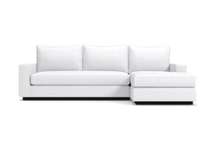 Harper 2pc Sleeper Sectional :: Leg Finish: Espresso / Sleeper Option: Memory Foam Mattress / Configuration: RAF - Chaise on the Right